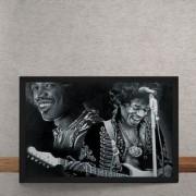 Quadro Decorativo Jimi Hendrix Sorrindo 25x35