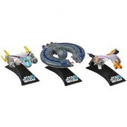 Star Wars Titanium Series Exclusive Die-Cast Vehicles [Anakin Skywalkers Podracer Sebulbas Podracer and Trade Federa