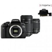 DSLR EOS 750D Double Kit 18- 55mm + 55-250mm Black + комплект Canon AC0033X090