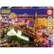 Educa Borrás - Puzzle 1000 Piezas Las Vegas Neón