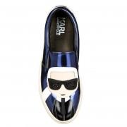 Karl Lagerfeld Slip-on en Cuir Kupsole Karl Ikonic bleues