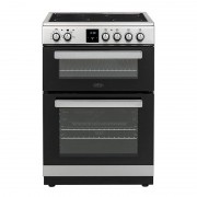 Belling FSE608DPc Stainless Steel Ceramic Electric Cooker with Double Oven