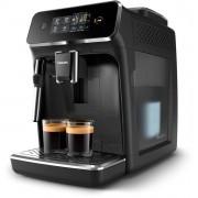 Espressor complet automat Philips EP2221/40, 15 bari, 2 băuturi, Sistem clasic de spumare a laptelui, 12 setări de măcinare, Afişaj tactil, Detartrare automată, Rezervor 1.8 L, Setare ECO, Aroma Seal, Negru lucios