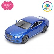 Smiles Creation Kinsmart 1:38 Scale 2012 Bentley Continental GT Speed Car Toys, Blue (5-inch)