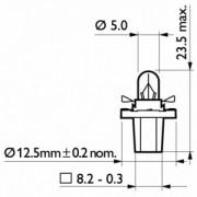 PHILIPS Gloeilamp, Instrumentenverlichting