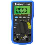 HOLDPEAK 90E Digitális multiméter VDC VAC ADC AAC ellenállás kapacitás hőmérséklet frekvencia dióda.