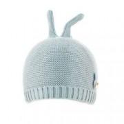 Caciula bebe-fetita cu urechi micute de iepuras C418-76 bleu