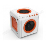 ALLOCACOC Enceinte Surround Portable AudioCube Blanc / Orange Bluetooth - Allocacoc