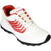 Elvace White Red Badminton Shoes -8028