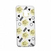 Husa Silicon Transparent Slim Yellow Rose 137 Samsung Galaxy J6 2018