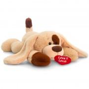 Catelus de plus cu inimioara Keel Toys, 25 cm, Crem, 3 ani+