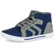Chevit MenS Blue Grey Sneakers Lace-Up Shoes (NR-114-GRY-BL-CVT)