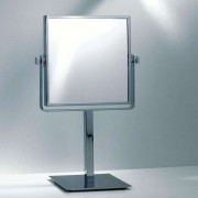 EDGE modern cosmetic pedestal mirror