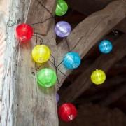 Színes kerti lampion, elemes