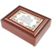 Cottage Garden Mom Mother How Special You Are Woodgrain Music Musical Jewelry Box Plays Wind Beneath