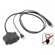 """Xystec Netzteilloser USB-3.0-Festplatten-Adapter für 2,5""""- und 3,5""""-SATA-HDDs"""