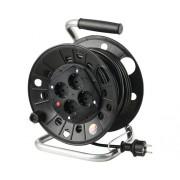 Prelungitor electric pe tambur de plastic 4 prize 25m cablu PVC 3x1,5 mm²