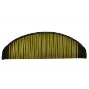 Zelený kobercový půlkruhový nášlap na schody Carnaby - délka 20 cm a šířka 65 cm