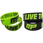 MusclePharm We Live This feliratú gumis karkötő