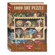 Puzzle lemn Cupboard Garden 1000 piese