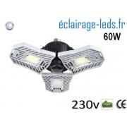 Ampoule led E27 plafonnier 60w SMD blanc 6000K 230v AC ref f060-1