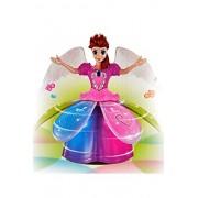 Tanvi 3D Light Music Dancing Princess Barbie Girl (Best Gifts for Girl Birthday) Diwali Gift for Kids