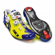 Sidi Wire Carbon Vernice Cycling Shoes - Yellow Fluro/Blue - EU 43