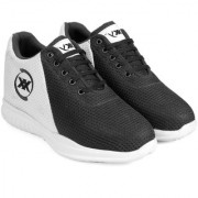 3 Inch Black Hidden Height Increasing Sport Shoes for Cricket Football Basketball etc.