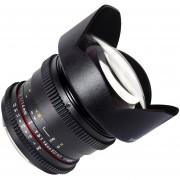 Lente Samyang Para Canon ED AS IF UMC VDSLR De 14mm T3.1-Negro