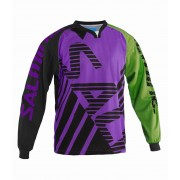 Salming Travis Goalie JSY SR Purple/Gecko Green L