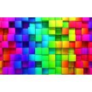 Fototapet 3D Decorativ Creative Decor Cuburi Colorate Cerneala Ecologica 200 x 300 cm