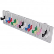 vidaXL Piano Keyboard Design Wall-mounted Coat Rack with 16 Colourful Hooks
