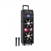 Auna Pro DisGo Box 2100, преносима PA система, 100 W RMS, BT, SD слот, LED, USB, батерия, черен (PAS5-DisGo Box 2100)