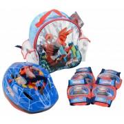 Set accesorii protectie pentru bicicleta role trotineta Spiderman