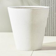 shore polyterrazzo extra large white planter by CB2