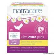 Absorbante Ultra Extra de noapte (4 picaturi) 10 buc Natracare