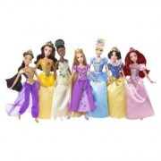 Mattel Disney Princess Ultimate Doll Collection Rapunzel Tiana Jasmine Belle Cinderella Snow White Ariel