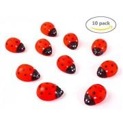 LovesTown Rubber Ladybird,Tub Toys,Bath Toys,10 PCS