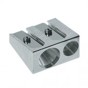 Faber-Castell Confezione 2 Temperametite In Metallo Doppio Foro