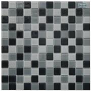 Maxwhite H38 plus H39 plus H40 Mozaika skleněná šedá světlá šedá tmavá černá 29,7x29,7cm sklo