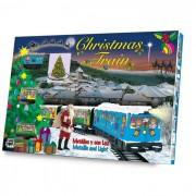 Božićni električni vlak (idealan za oko bora) 1 lokomotiva + 2 vagona, 3m