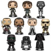 SW Pop! Star Wars: Rogue One Jyn Erso, Captain Cassian Andor, K-2SO, Chirrut ÃŽmwe, Baze Malbus, Orson Krennic, Scarif, Death Trooper, Darth Vader and C2-B5 Set of 10