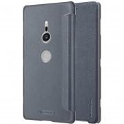 Nillkin Frosted Textura Horizontal Flip Funda De Cuero Para Sony Xperia Xz2 (gris)