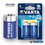HIGH ENERGY LR14 VARTA (blister) alkalna