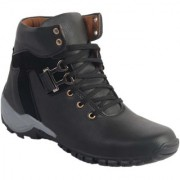 Aadi Mens Black Lace-up Boots