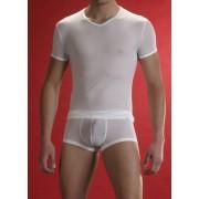 Olaf Benz RED 0965 V Neck Short Sleeved T Shirt White 1-03495/1000