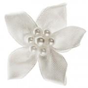 Haarclipje bloem off-white