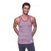 4-rth Light Weight Transition Striped Yoga Tank Top T Shirt Red/Grey