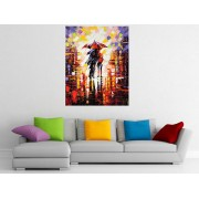 "Tablou grand canvas abstract ""indragostiti sub umbrela"" - cod Z19"