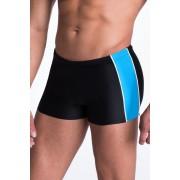 Hector férfi boxer fürdőnadrág, fekete-kék 3XL
